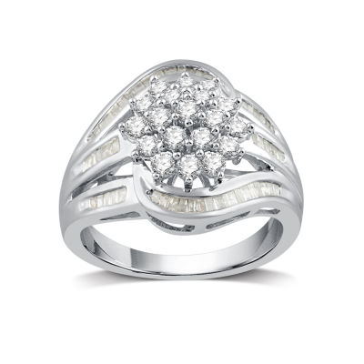 1 CT. T.W. White Diamond 10K Gold Cocktail Ring