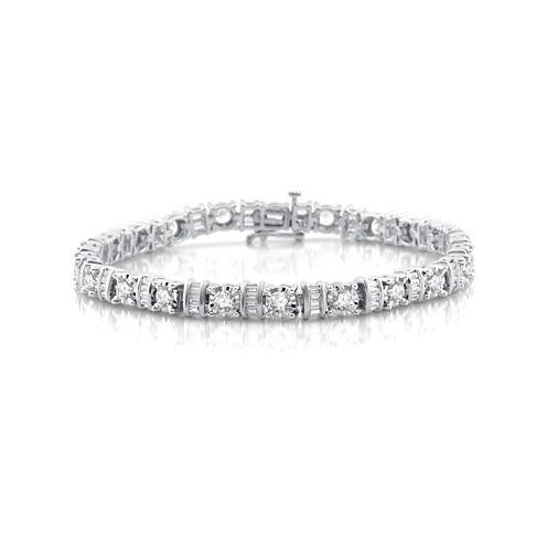 5 CT. T.W. White Diamond 10K Gold Tennis Bracelet