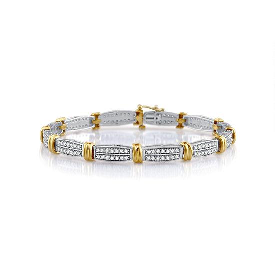 10K Gold 7.5 Inch Casted Link Bracelet