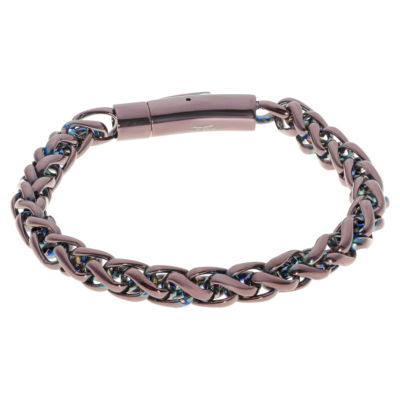 Stainless Steel 9 Inch Solid Wheat Chain Bracelet