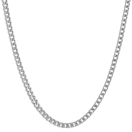 Stainless Steel Solid Wheat Chain Necklace