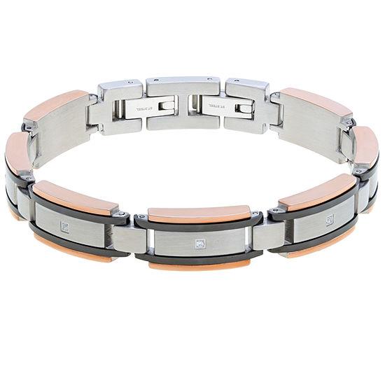 Stainless Steel 8.5 Inch Solid Link Link Bracelet