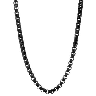 Stainless Steel Solid Box 24 Inch Chain Necklace