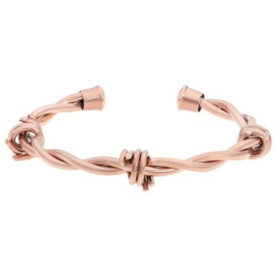 Rose Tone Stainless Steel Bangle Bracelet