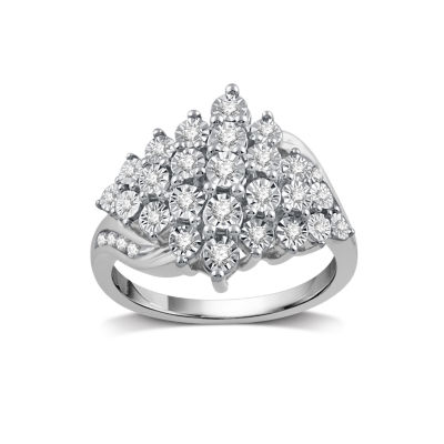 1/3 CT. T.W. White Diamond Cocktail Ring