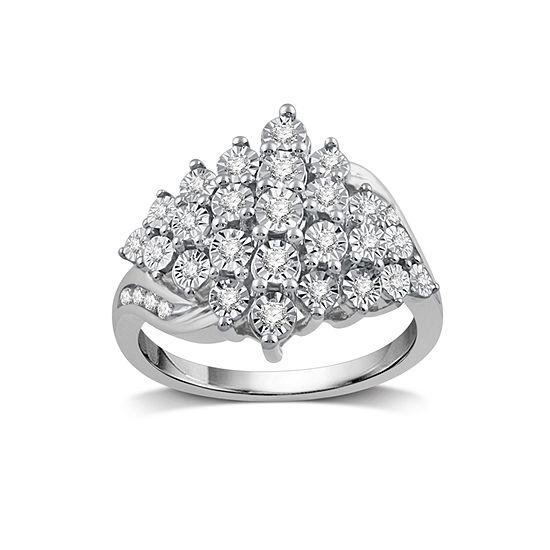 1/3 CT. T.W. White Diamond Cocktail Ring