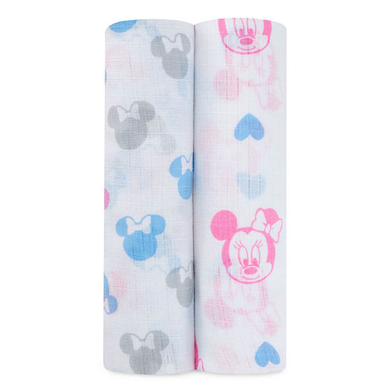 Ideal Baby 2-pc. Minnie Mouse Swaddle Blanket