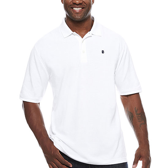 7fd33f0739 IZOD Short Sleeve Solid Polo Shirt Big   Tall JCPenney