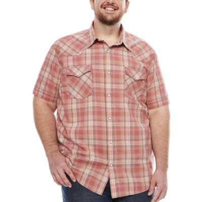 The Foundry Big & Tall Supply Co. Short Sleeve Vintage Button-Front Shirt