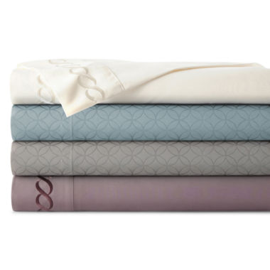 jcpenney.com | JCPenney Home™  Premium Embossed or Embroidered Microfiber Sheet Sets