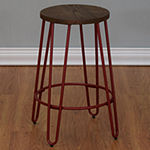 Quinn Counter Stool In Matte Red Finish