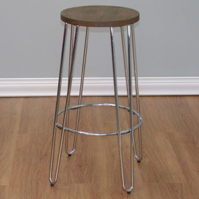 Quinn Barstool In Chrome Finish