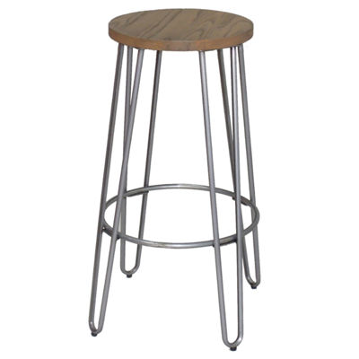 Quinn Barstool In Natural Metal Finish