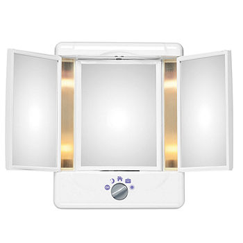 Lighted Makeup Mirror.Conair Reflections Two Sided Lighted Makeup Mirror