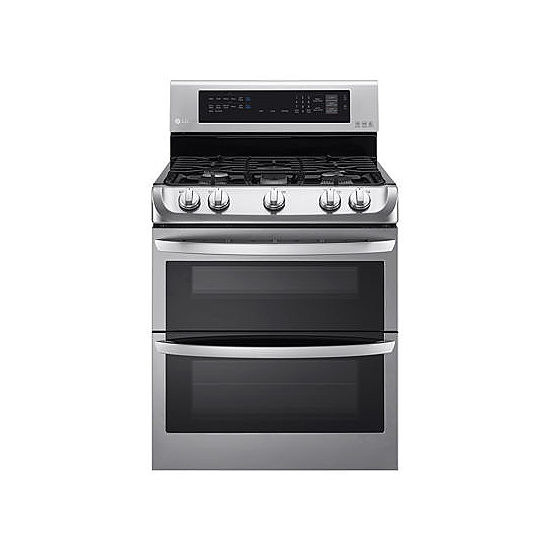 Lg 6 9 Cu Ft Gas Double Oven Range With Probake Convection Easyclean