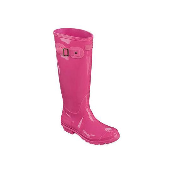 Seven 7 Womens Rain Boots Waterproof Slip Resistant Flat Heel