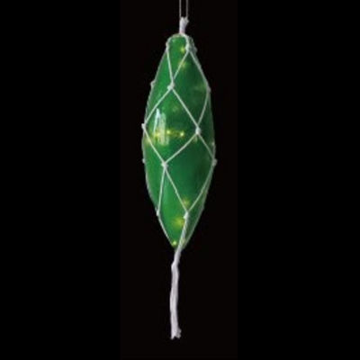 """36"""" Lighted Roped Green Finial Drop Outdoor Christmas Decoration - Clear Lights"""""""