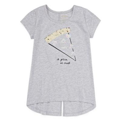 Arizona Short Sleeve Graphic Sequin Tunic - Girls' 4-16 & Plus