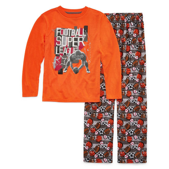 Football 2 Piece Pajama Set - Boys 4-20