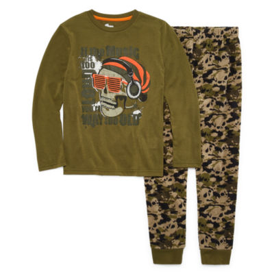 Skull 2 Piece Pajama Set - Boys 4-20