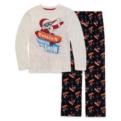 Thrashing Through The Snow 2 Piece Pajama Set - Boys 4-20
