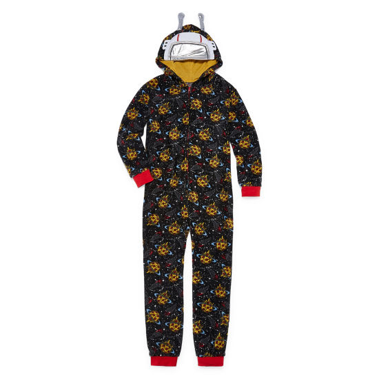Pizza Print One Piece Pajama - Boys 4-14