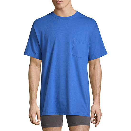 Stafford Performance Blended Cotton Heavyweight Crew Pocket Comfort Tee with Wicking