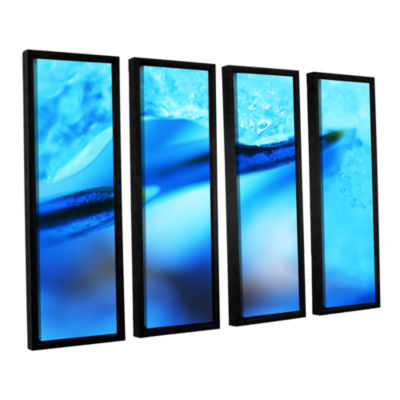 Blue Ice Floe 4-pc. Floater Framed Canvas Wall Art