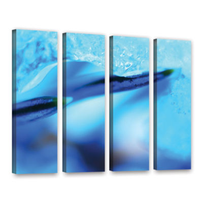 Blue Ice Floe 4-pc. Gallery Wrapped Canvas Wall Art