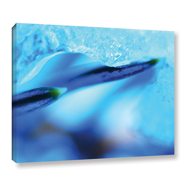 Blue Ice Floe Gallery Wrapped Canvas Wall Art