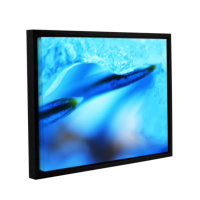 Blue Ice Floe Gallery Wrapped Floater-Framed Canvas Wall Art