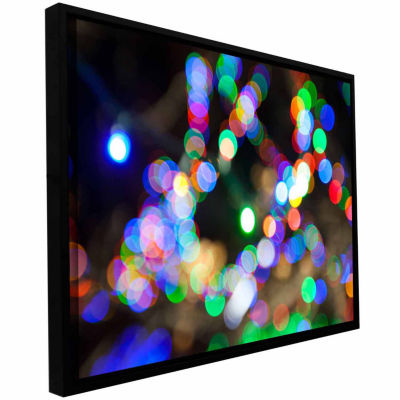 Bokeh 2 Gallery Wrapped Floater-Framed Canvas Wall Art