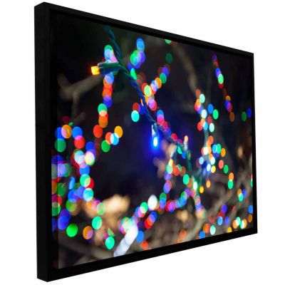 Bokeh 3 Gallery Wrapped Floater-Framed Canvas Wall Art