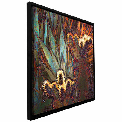Borrego Cactus Patch Gallery Wrapped Floater-Framed Canvas Wall Art