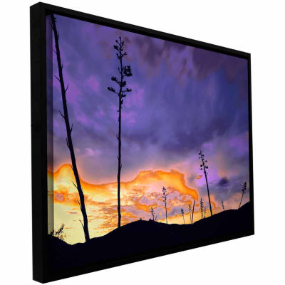 Borrego Desert Dawn Gallery Wrapped Floater-Framed Canvas Wall Art