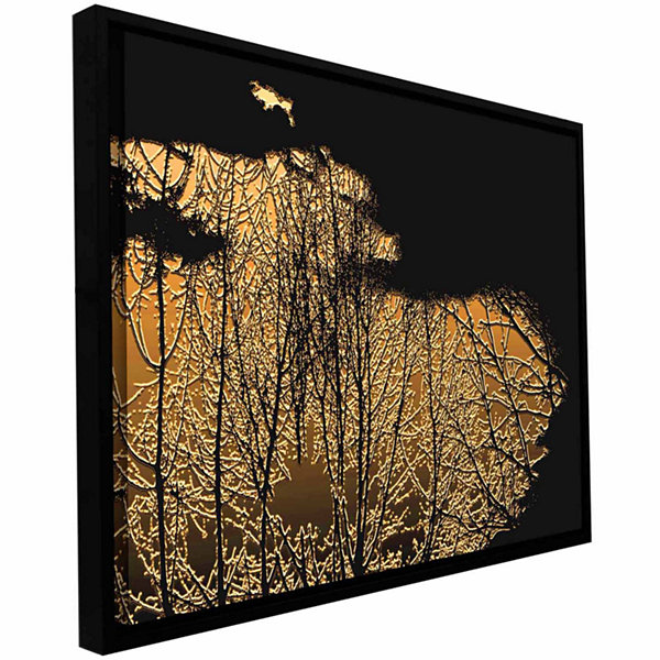 Brushstone Break In The Storm Gallery Wrapped Floater-Framed Canvas Wall Art