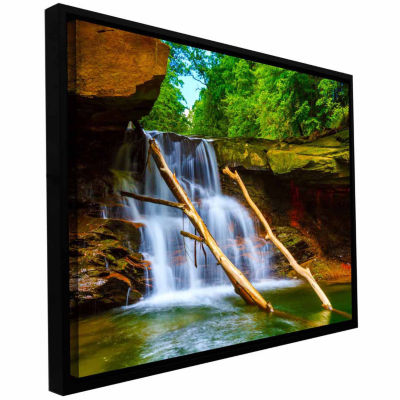 Brushstone Brecksville Falls Gallery Wrapped Floater-Framed Canvas Wall Art