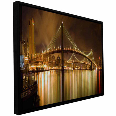 Brooklyn Bridge Gallery Wrapped Floater-Framed Canvas Wall Art