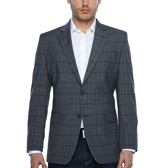 Stafford Year Round Stretch Classic Fit Grid Sport Coat