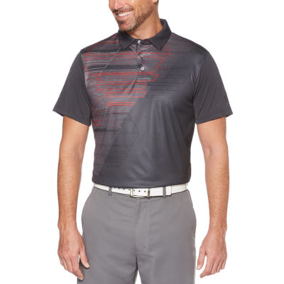 PGA TOUR Easy Care Short Sleeve Argyle Polo Shirt