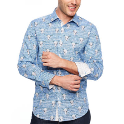 Society Of Threads Society Of Threads Long Sleeve Sport Shirts Long Sleeve Button-Front Shirt