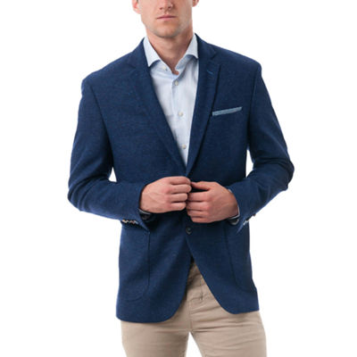 Men's Wool and Polyester Textured Classic-Fit Blazer