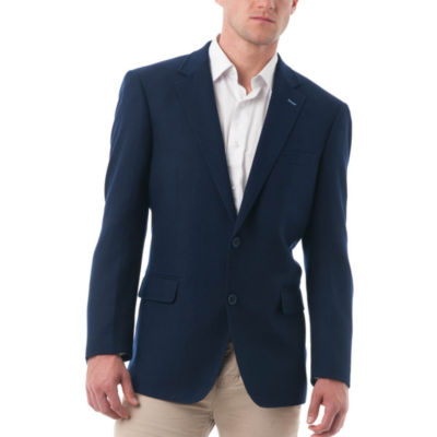 Men's Dark Wool and Polyester Classic Fit Blazer