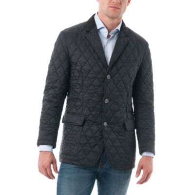 Men's Quilted Notched Lapel Sports Coat
