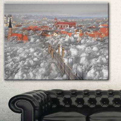 Designart When The Cloud Descends Abstract PrintOnCanvas