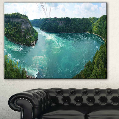 Designart Whirlpool Rapids Landscape Photography Canvas Print