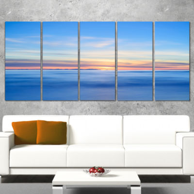 Corsica Island Sunset View Italy Extra Large Seashore Canvas Art - 5 Panels