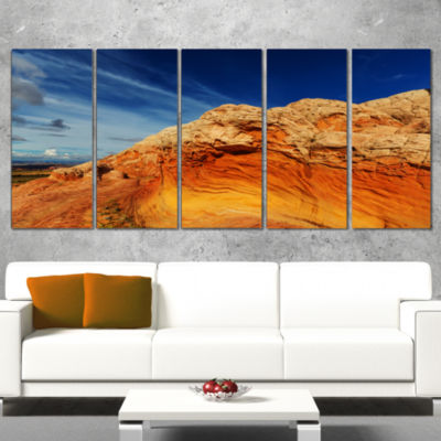 Designart Coyote Buttes Of Vermillion Cliffs Oversized Landscape Canvas Art - 5 Panels