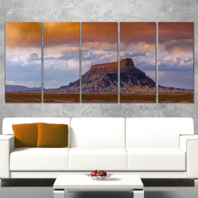 Designart Factory Buttle Utah Panorama Landscape Artwork Canvas - 4 Panels