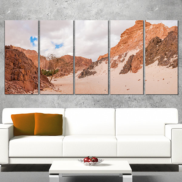Designart Fantastic Panorama Of White Canyon ExtraLarge Wall Art Landscape - 4 Panels
